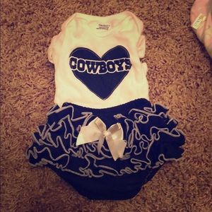 Dallas cowboys onesie and ruffle bloomers